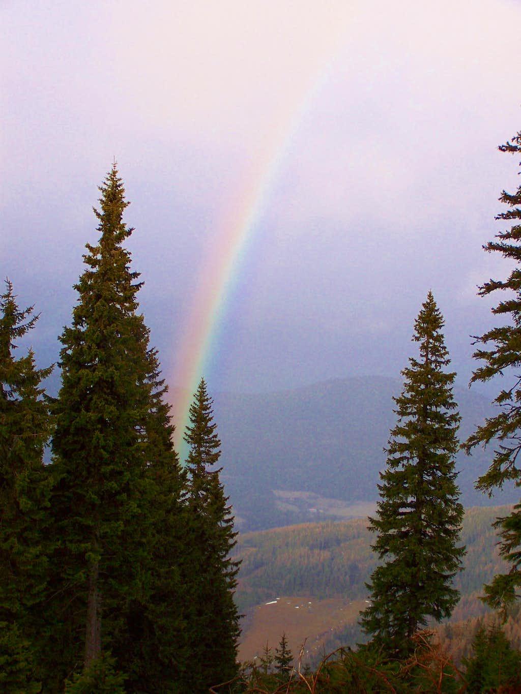 Rainbow above the valley of Feistritz