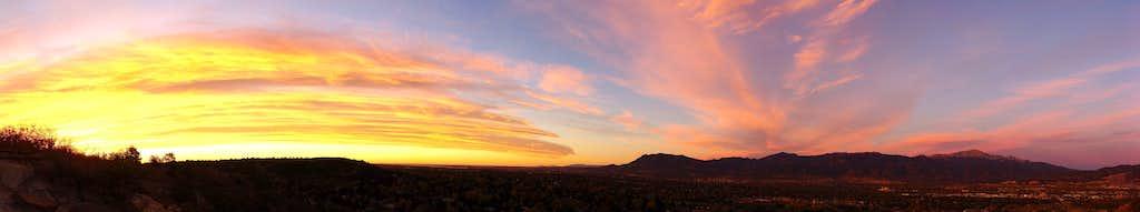 Colorado Springs - Front Range Sunrise