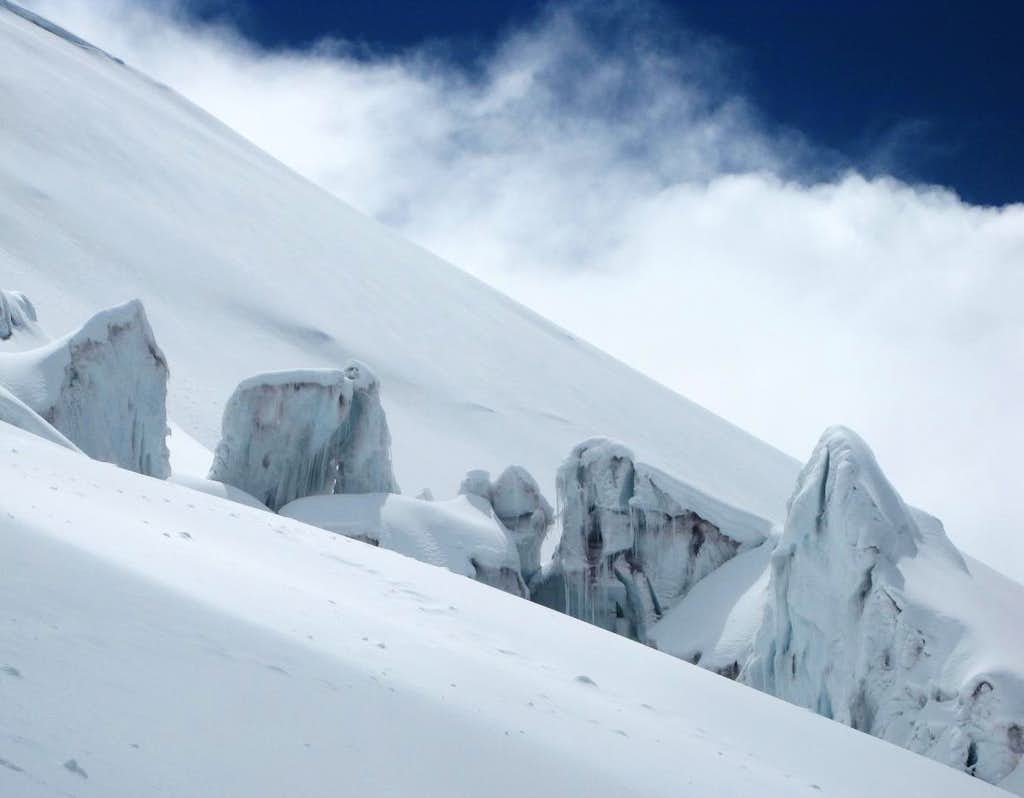 Ice formations on Cotopaxi