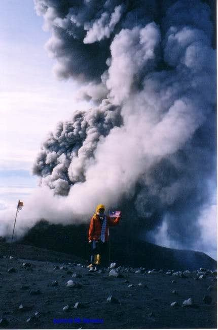 the explosive gas from Mount...