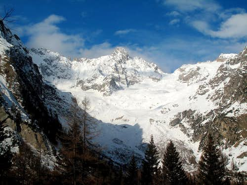 View from La Fouly in the Val Ferret...