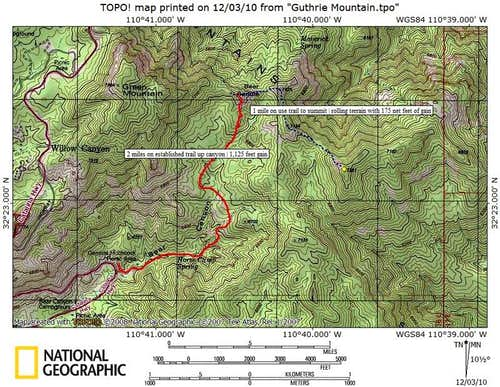 Bear Canyon Route Map