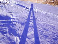 Long winter shadow