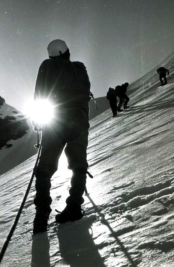 PATRI' Exit NW Face & Traverse to St. Orso Tower 1969