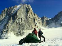 Bivouac on the Glacier du Géant
