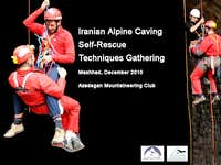 Iranian Alpine Caving Self-Rescue Techniques Gathering - Akhlamad 2010
