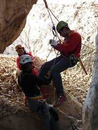 Caving self-rescue techs
