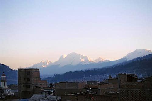 Huascarán from Huaraz....