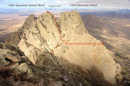 The Normal Route on Little Squaretop