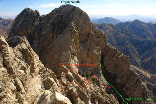 The lower Normal Route on Little Squaretop