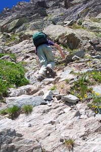 Climbing on the normale route