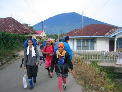 on our way to trek Mt...