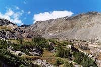 The long ridge between...