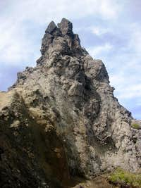 Rock pillar on Imbabura