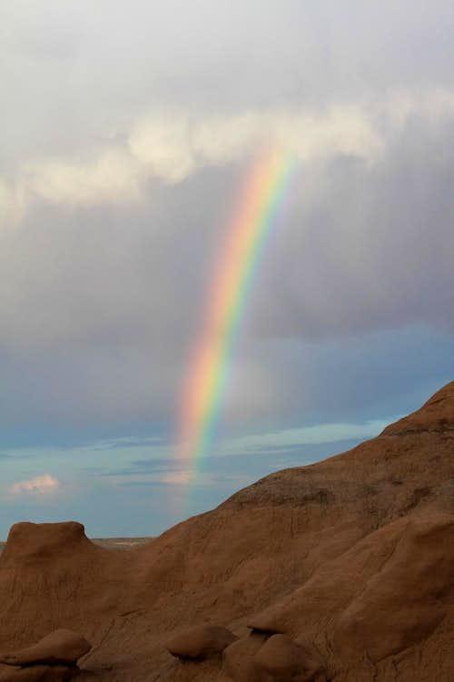 Rainbow at Goblin Valley