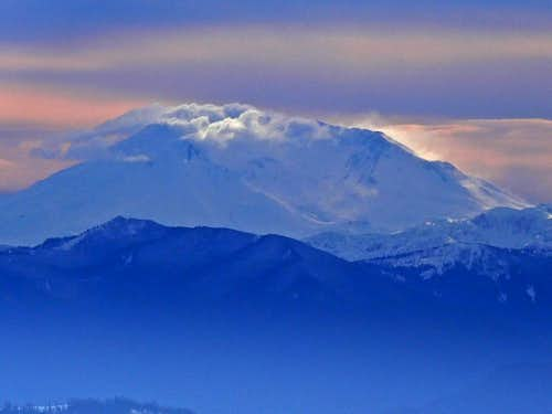 Mount Saint Helens in Winter