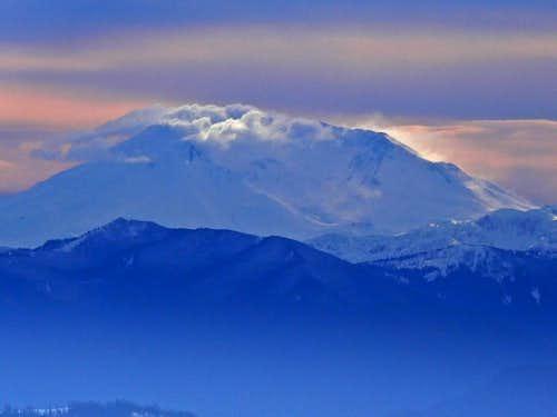 Mount Saint Helens in Winter