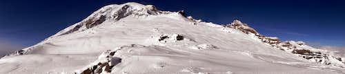 Mount Rainier Panorama in Winter