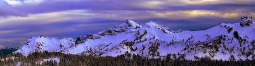 The Tatoosh Range during Evening