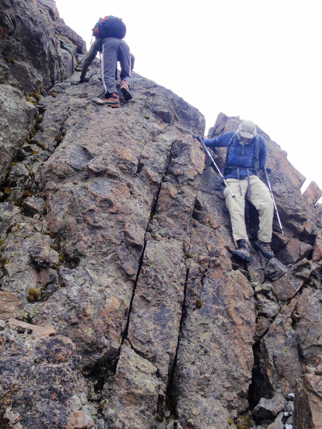 Downclimbing The Cliff