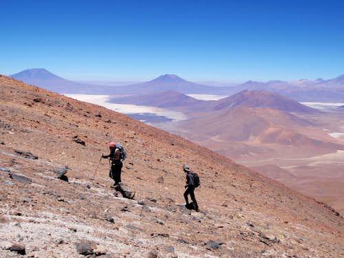 Nearing Cañapa Summit