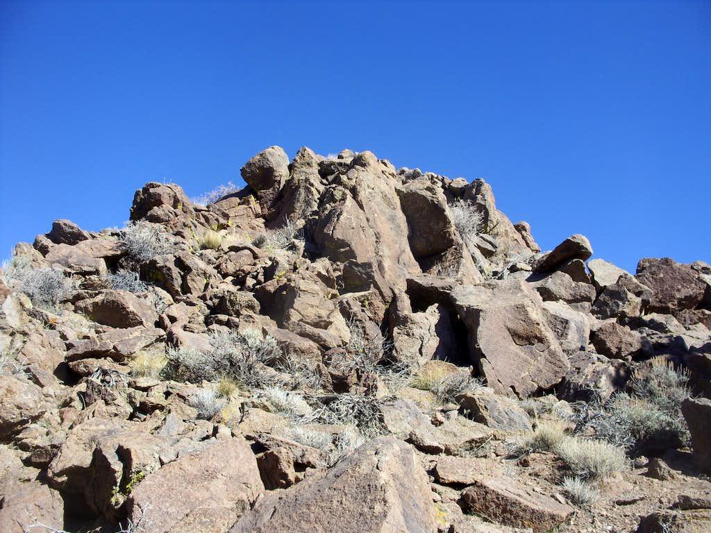 Rose Peak summit rocks