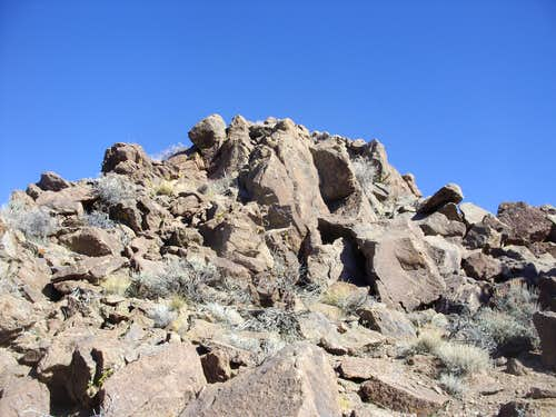 Rose Peak summit rocks