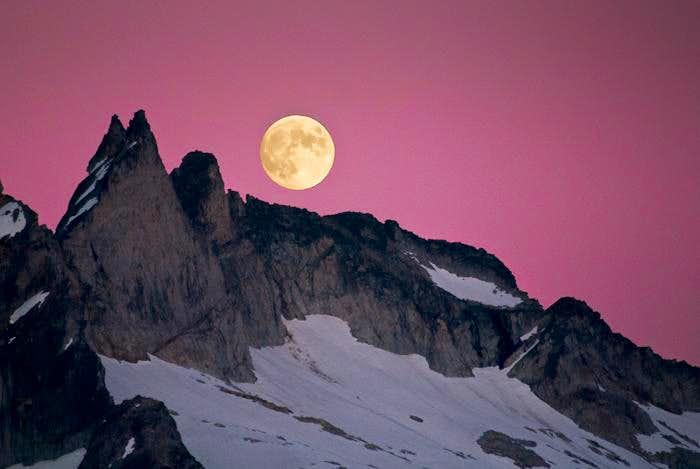 Full Moon over Gunsight Peak