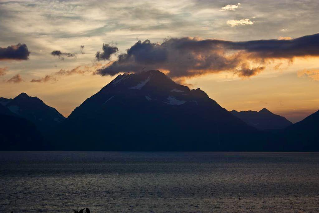 Lyngen Alps in midnight sun
