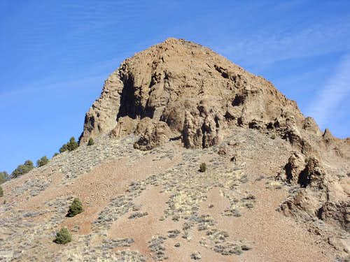 Zoom shot of Sugarloaf Rock Formation