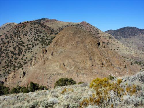 View north while descending Emma Peak 6442'