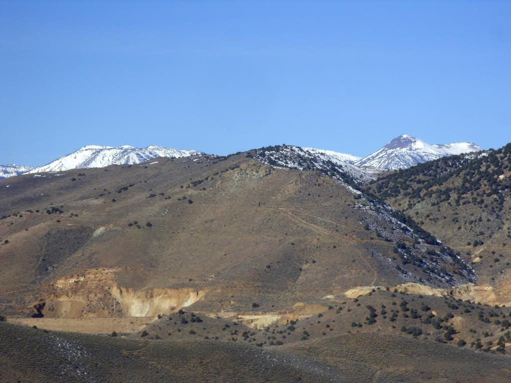 Mount Rose 10776' and Slide Mountain 9698' peaking out from the summit of Grosh