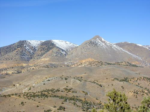 Mount Davidson 7864\' and the range above Virginia City from Mount Grosh
