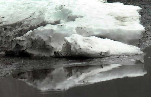 Snow Bank Reflection