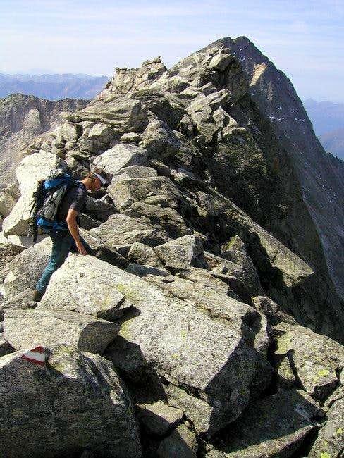 Climbing on the ridge and...