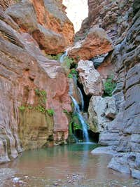 Waterfall in Elves Chasm in the Grand Canyon