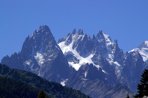 Aiguilles de Chamonix from the north