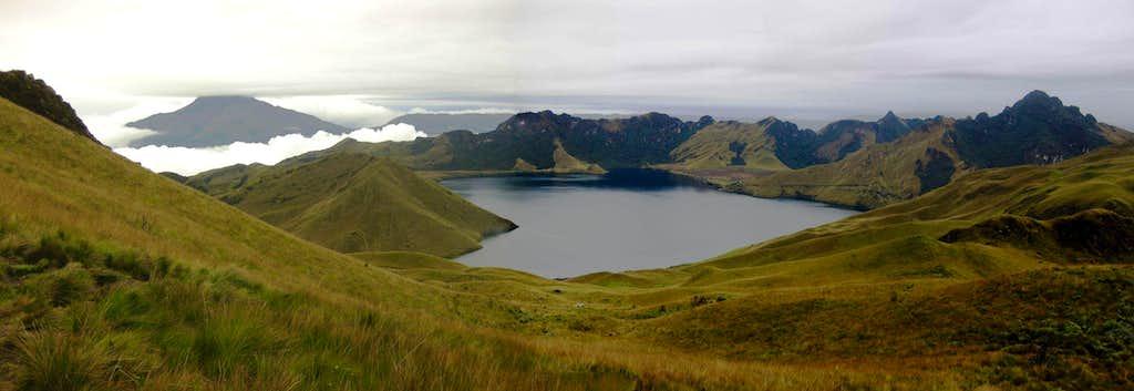 Mojanda lakes panorama, from the slopes of Fuya Fuya