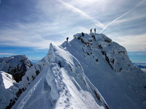 Lone Peak summit knife-edge