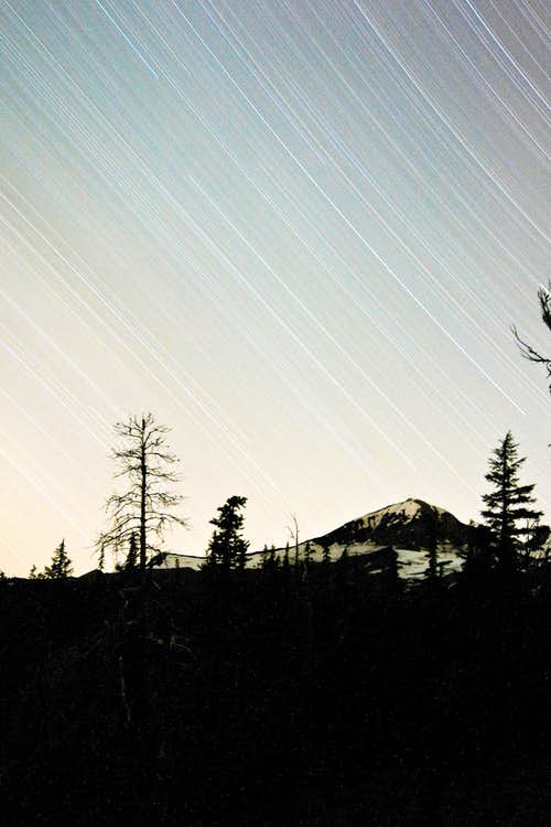 Star Trails over Middle Sister
