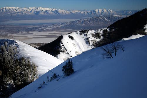 A small avalanche on the Oquirrh Divide