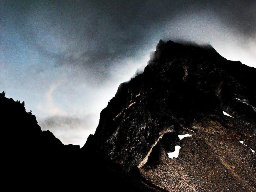Storm Atop Thielsen East Face