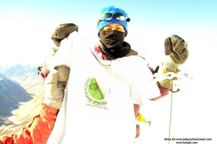 Samina Baig, retruned 150 short from the summit