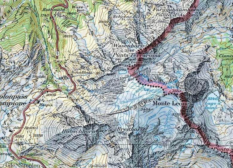Monte Leone map