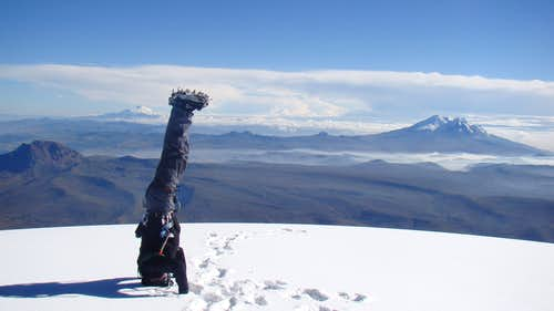 Cotopaxi up side down