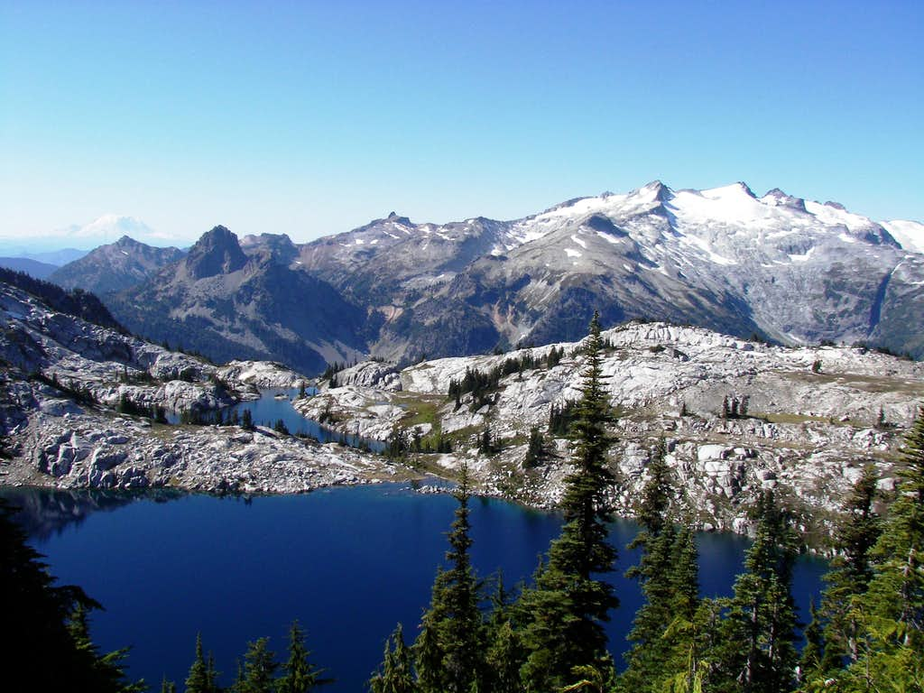 Robin Lakes from Granite's ridge