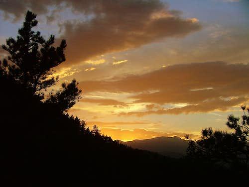 Sunset from Flatirons. Colorado. USA.