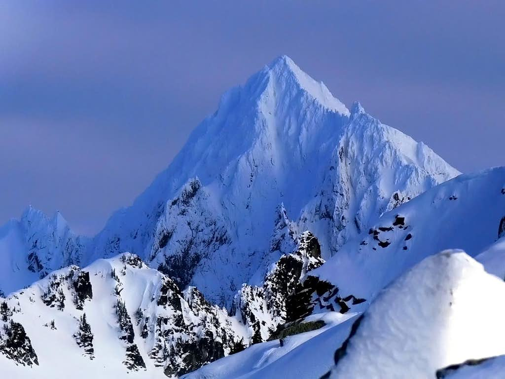 Eldorado Peak in Winter