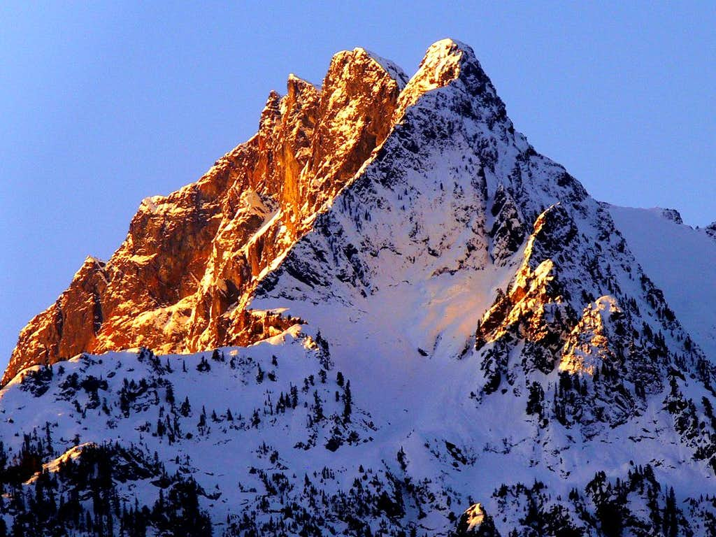 Whitehorse Mountain during Sunrise