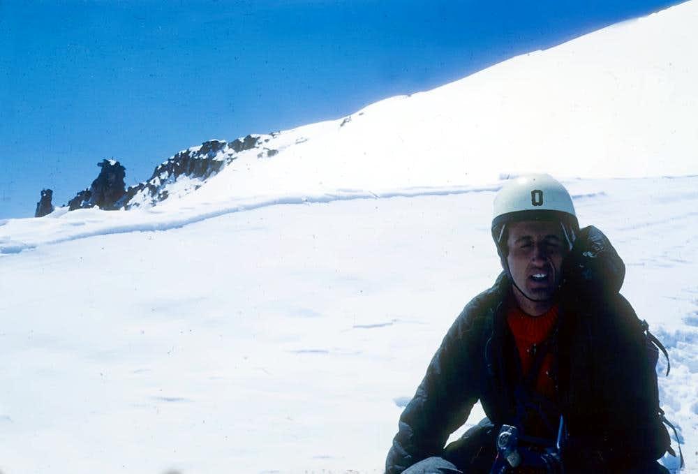 Gran Paradiso after NW icy Wall
